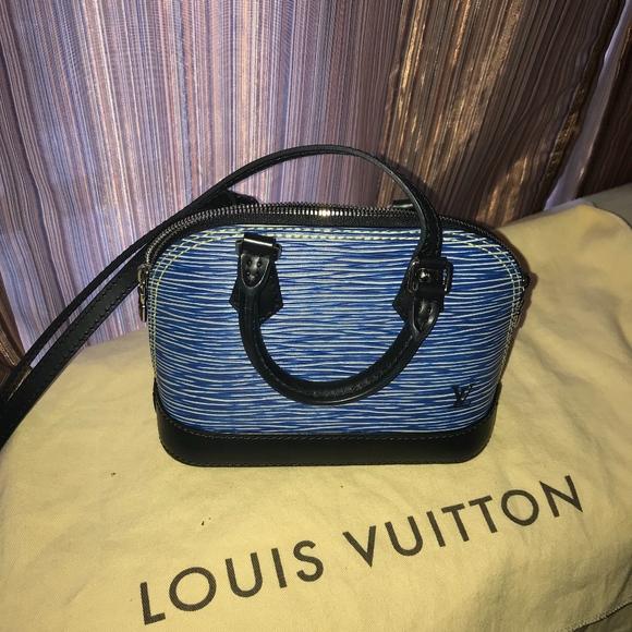 36a79dae82f0 Louis Vuitton Handbags - Nano Alma Epi Denim
